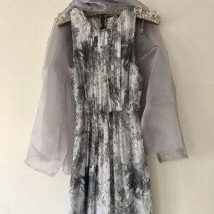 Elie Tahari silver evening Dress
